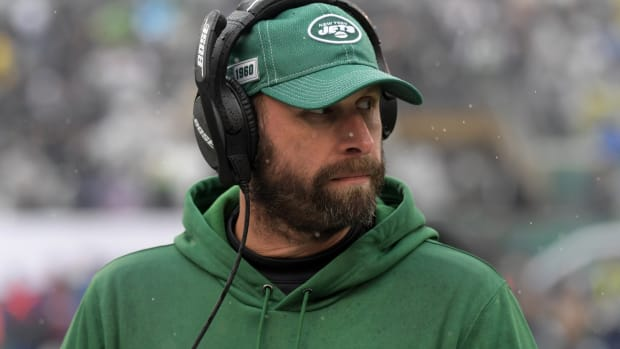 Jets head coach Adam Gase on sideline
