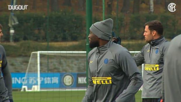 Inter's last training ahead of Mönchengladbach clash