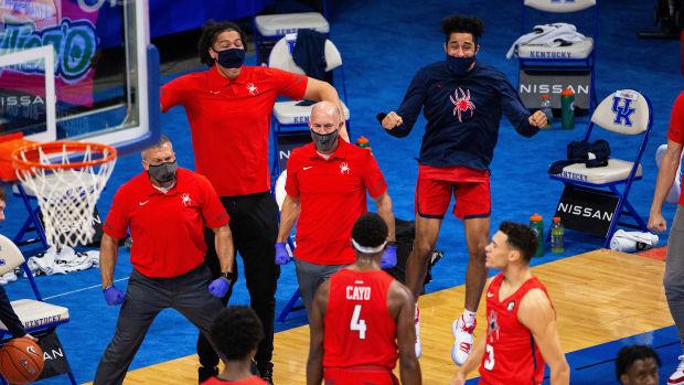 Richmond celebrates a score at Rupp Arena