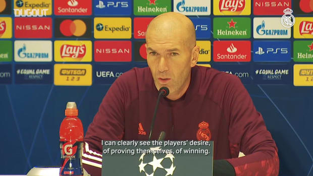 Zinedine Zidane: 'It's the most important game in the group'