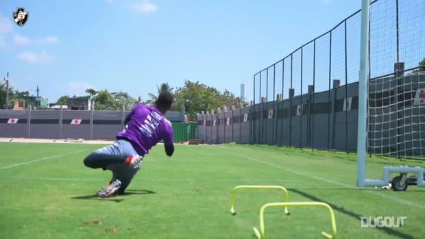 Vasco's last training session before Ceará clash