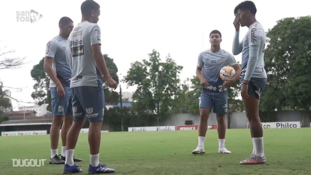 Last training session of Santos before match vs LDU