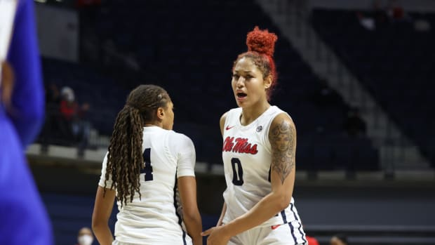 Ole Miss Women's Basketball vs McNeese State on November 30th, 2020 at The Pavilion in Oxford, MS.Photo by Joshua McCoy/Ole Miss Athletics