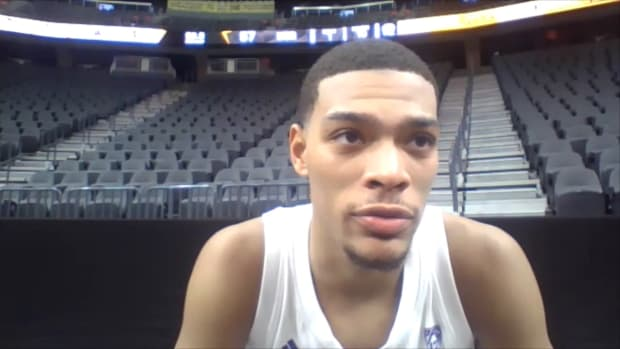 Quade Green meets with the media virtually after losing to UC-Riverside.