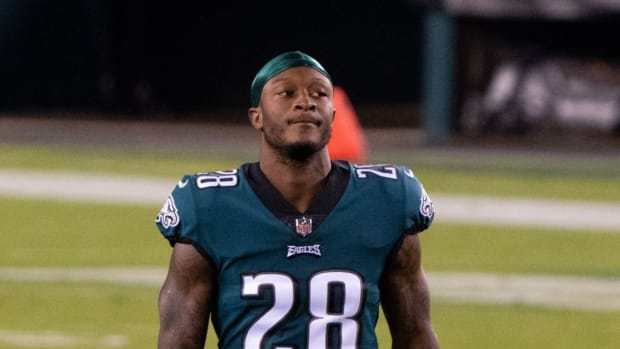 Philadelphia Eagles strong safety Will Parks (28) before a game against the Dallas Cowboys at Lincoln Financial Field.