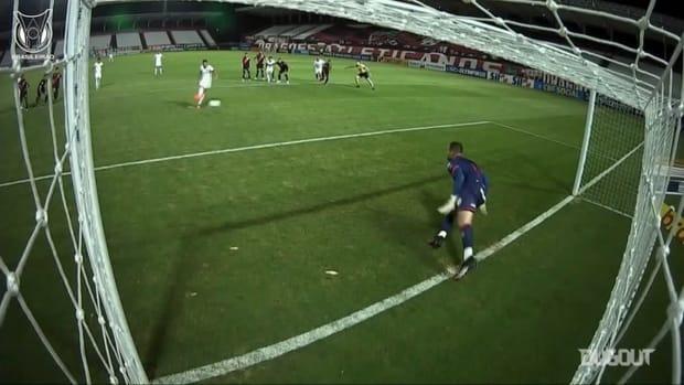 Jean denies Brazilian international Thiago Galhardo from penalty spot