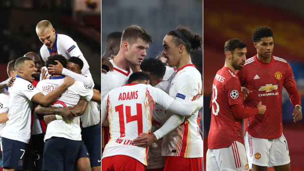 PSG, RB Leipzig and Man United are vying for two places in the Champions League last 16