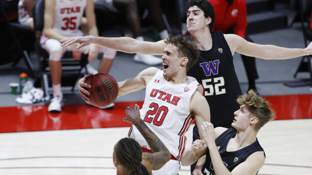 Riley Sorn (52) was a bright spot in an otherwise dismal game in Utah.
