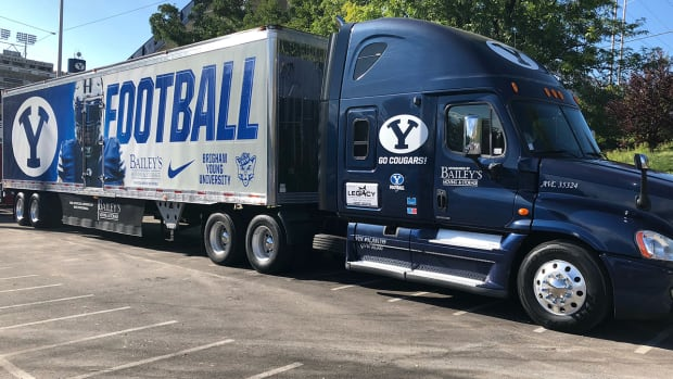 BYU's equipment truck is on a 40-hour, 2,200-mile haul across the country to get the Cougars on the field against Coastal Carolina.
