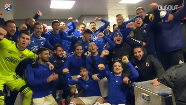 Dinamo celebrate winning Europa League group