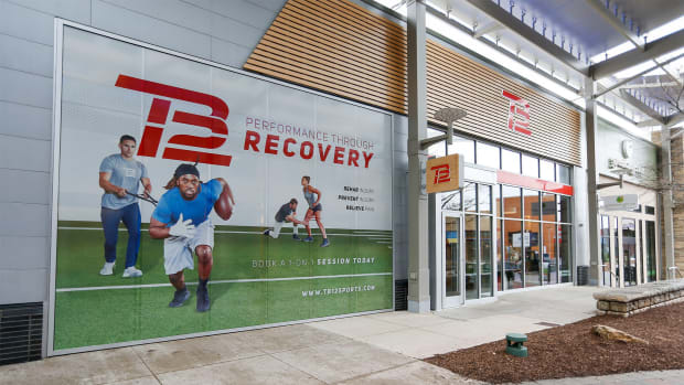 Mar 17, 2020; Foxborough, Massachusetts, USA; TB12 Performance Store at Patriot Place near Gillette Stadium.