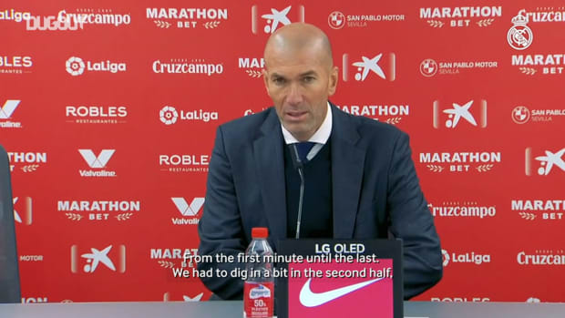 Zinedine Zidane: 'Congratulations to the players because it's not easy to win here'
