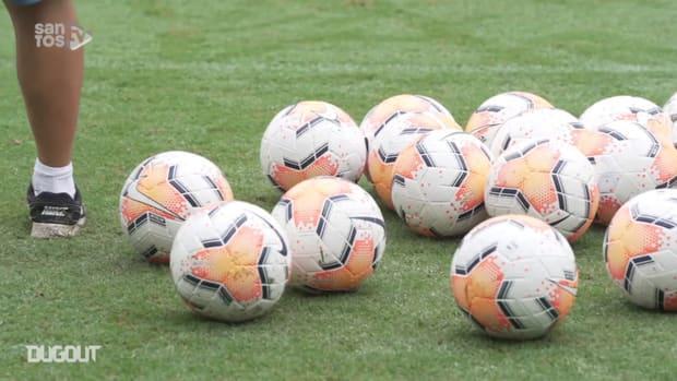 Santos make first training session to face Grêmio