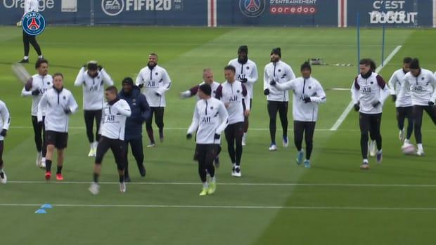 Paris Saint-Germain's last training session before the match against Başakşehir