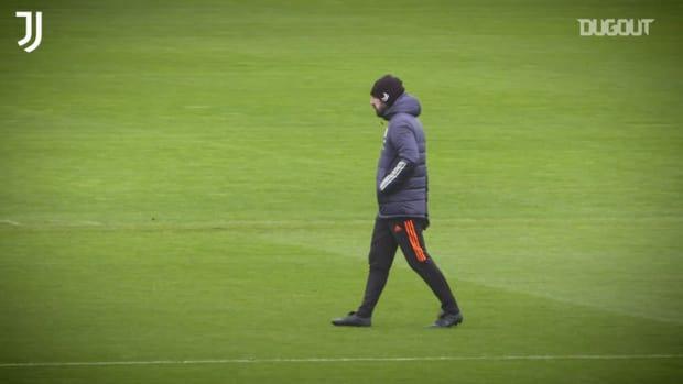 Juventus' last training ahead of Barcelona clash