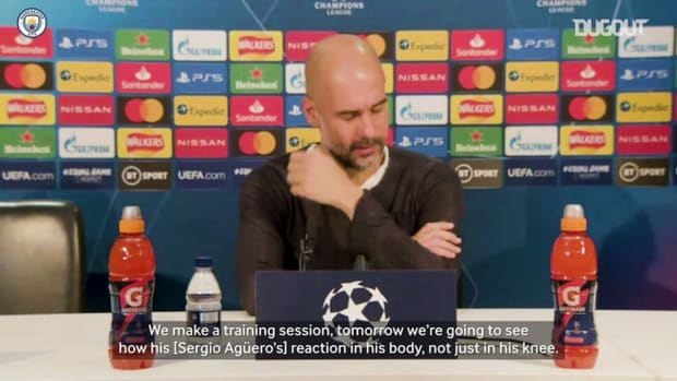 Guardiola gives update on Agüero's fitness
