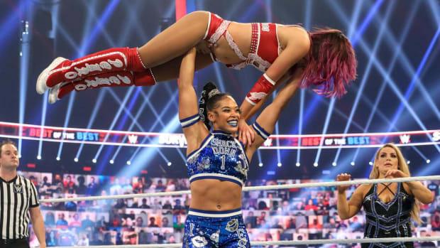 WWE's Bianca Belair in the ring at Survivor Series