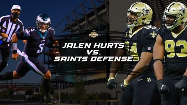 Hurts vs Saints Defense