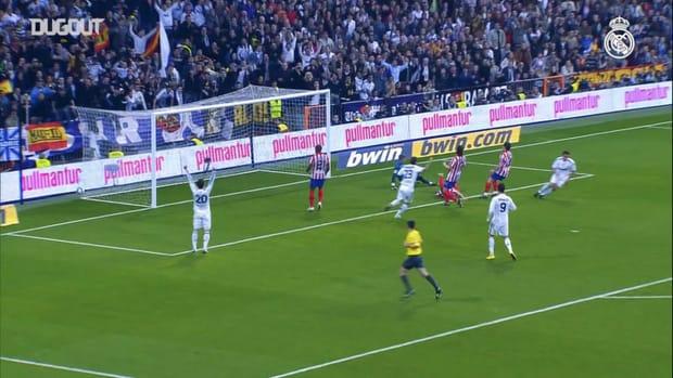 Álvaro Arbeloa great goal vs Atlético in 2010