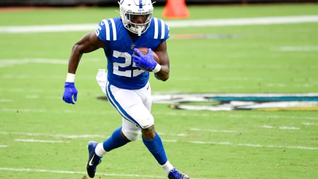 Indianapolis Colts fourth-year running back Marlon Mack was lost for the season to a ruptured Achilles tendon in the second quarter of the opener.