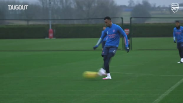 Arsenal train ahead of Burnley meeting