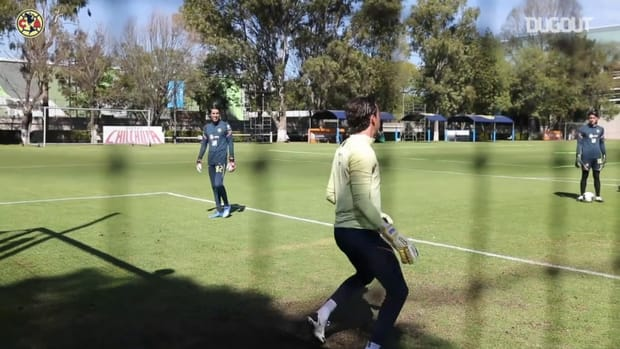 Club América's last training before travelling to the USA