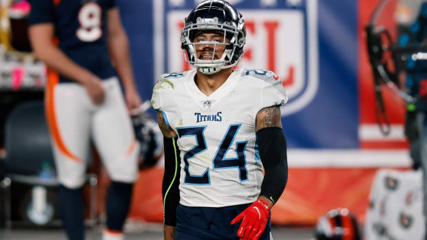 Tennessee Titans strong safety Kenny Vaccaro (24) in the fourth quarter against the Denver Broncos at Empower Field at Mile High.