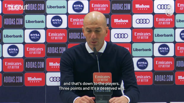 Zinedine Zidane: 'It was hard going, but it was a deserved win'