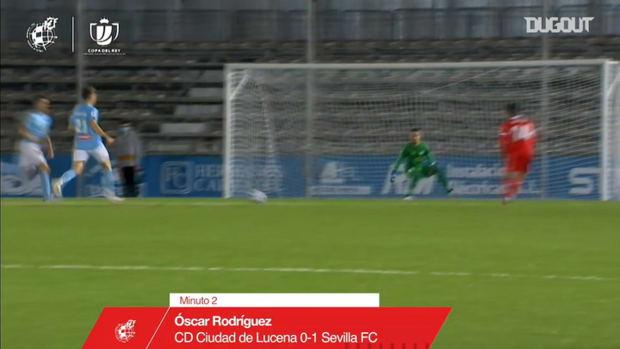 Óliver Torres's great turn and assist for Óscar Rodríguez