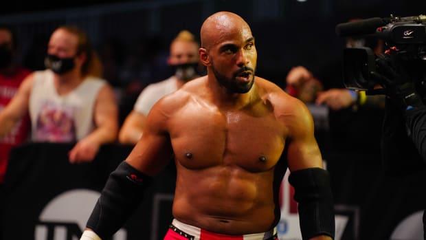 AEW wrestler Scorpio Sky outside the ring