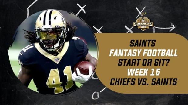 Saints Fantasy Football Week 15