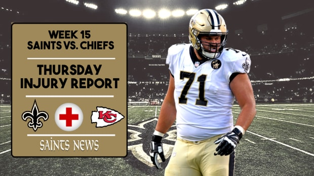 Saints Injury Report Week 15 (1)