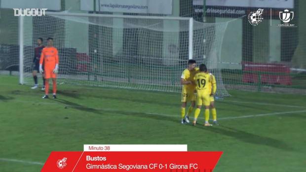 Nahuel Bustos's surprising chip goal inside the box
