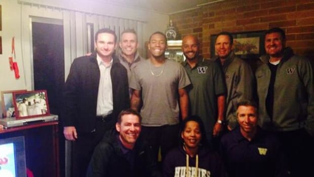 Budda Baker in-home visit with Washington