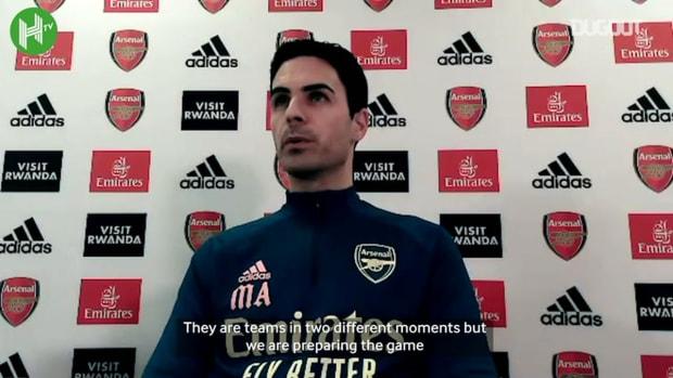 Arteta discusses his career at Everton