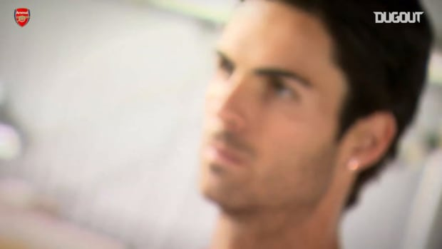 Mikel Arteta's first day at Arsenal after joining from Everton