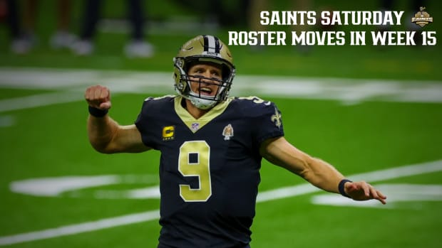 Saints Roster Moves Week 15