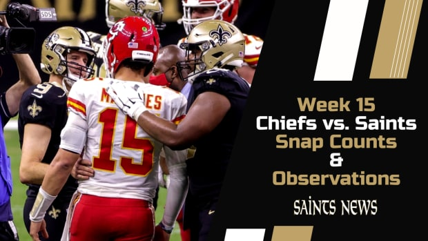 Week 15 Snap Counts