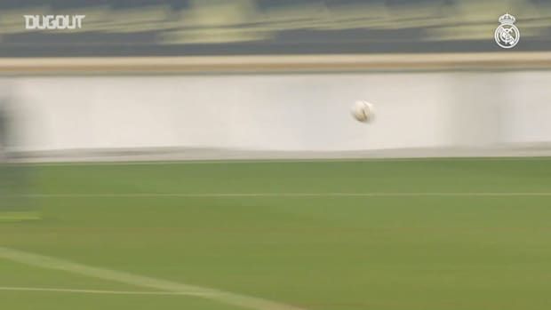 Marcelo, Nacho, Odegaard and the Real Madrid player's tune in with some great shots on goal
