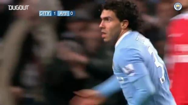 Manchester City's League Cup goals vs Arsenal