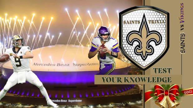 Saints Trivia vs Vikings Week 16