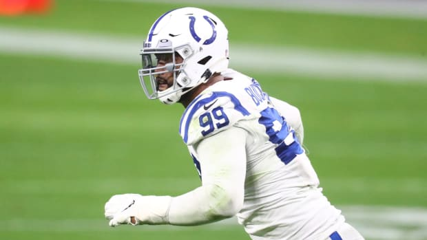 Indianapolis Colts defensive tackle DeForest Buckner was named AFC Defensive Player of the Week on Wednesday after he had a career-high three sacks against Houston.