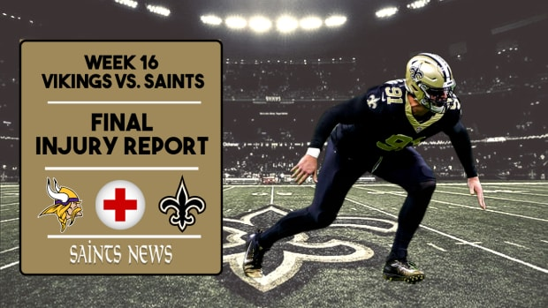 Saints Injury Report Week 16