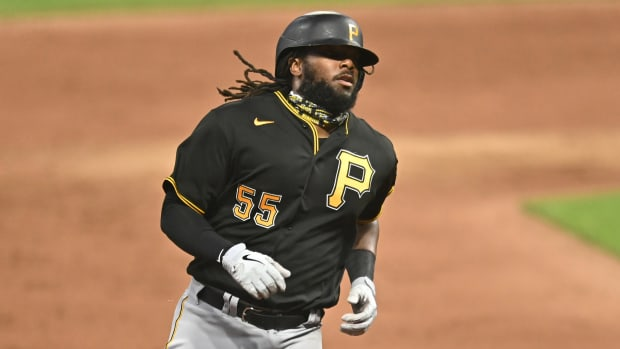 The Pirates traded first baseman Josh Bell to the Nationals.
