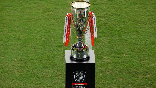 The Concacaf Champions League trophy