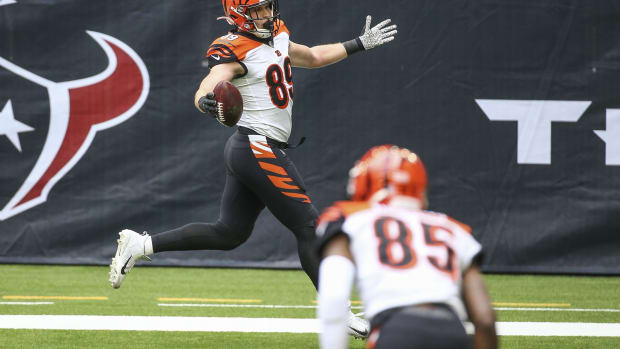 Drew Sample scored his first NFL touchdown.