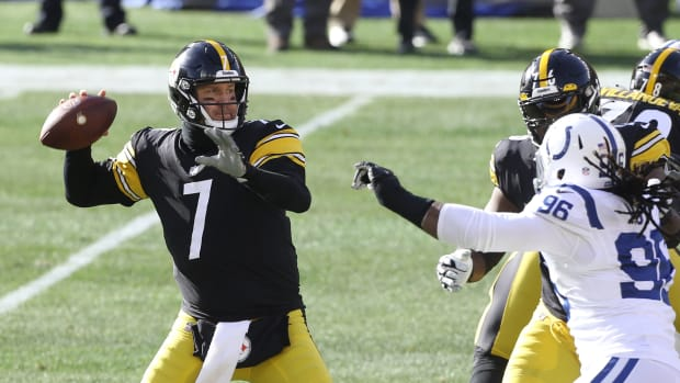 Ben Roethlisberger during comeback win over Colts