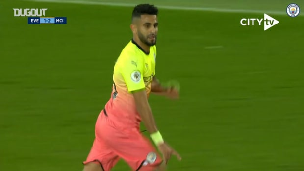 Mahrez hits sensational free-kick at Goodison Park