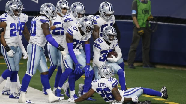 Cowboys celebrate win over Eagles