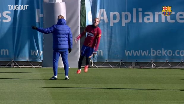 FC Barcelona's Final workout ahead of Eibar game